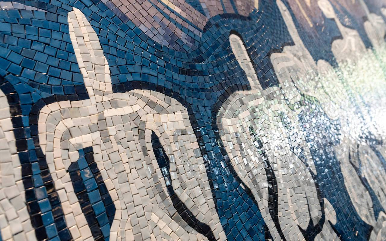 Mosaic floor, 4 star hotel french riviera, Juliana Hotel Cannes.