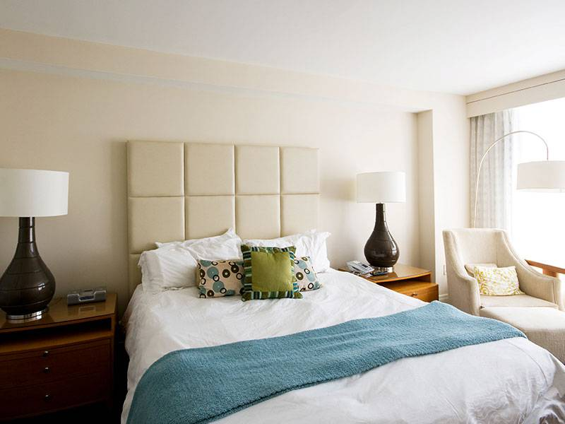 Room with comfortable double bed, 4 star boutique hotel cannes,Juliana Hotel Cannes.
