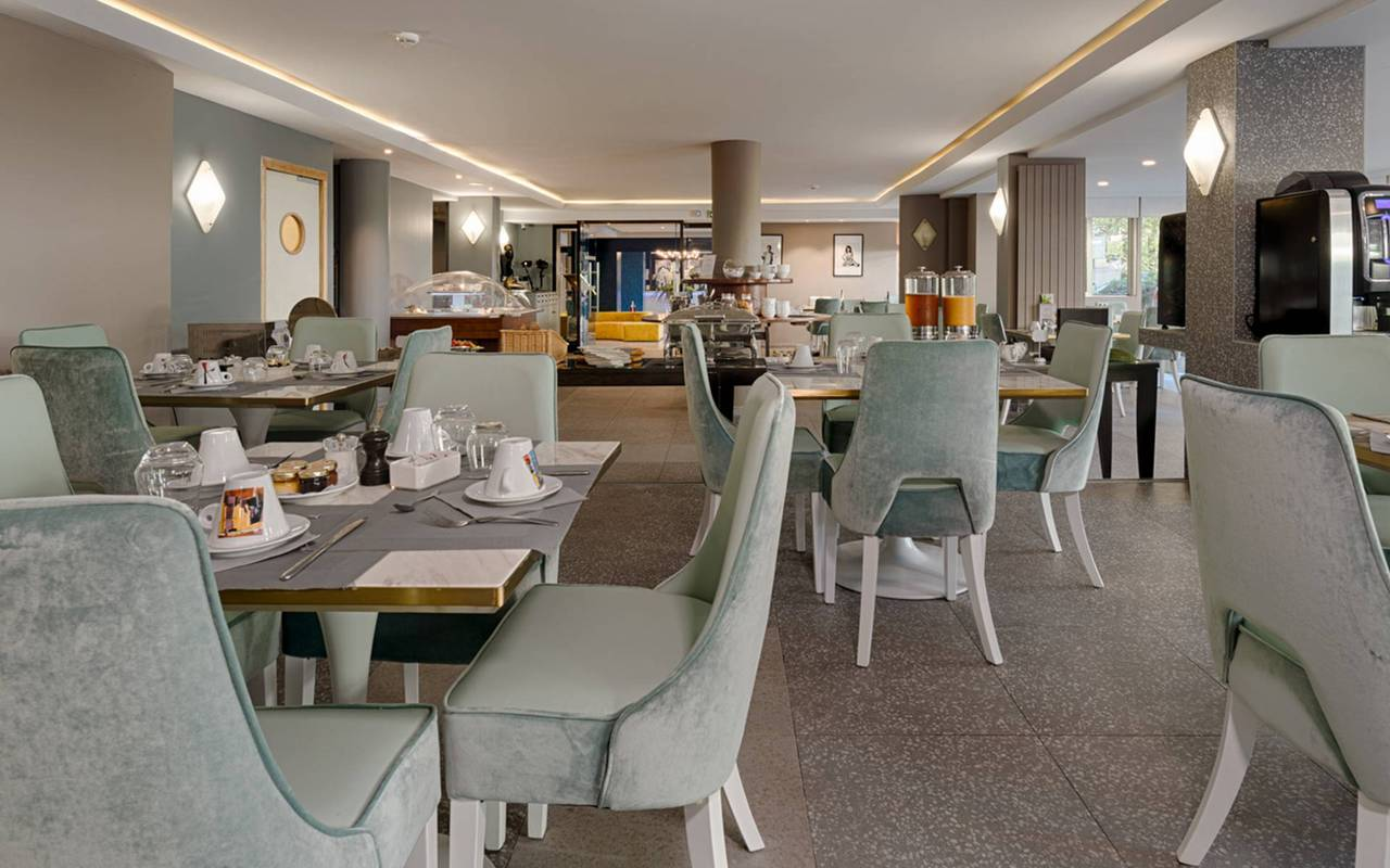 salle du restaurant, boutique hotel cannes, Juliana Hotel Cannes