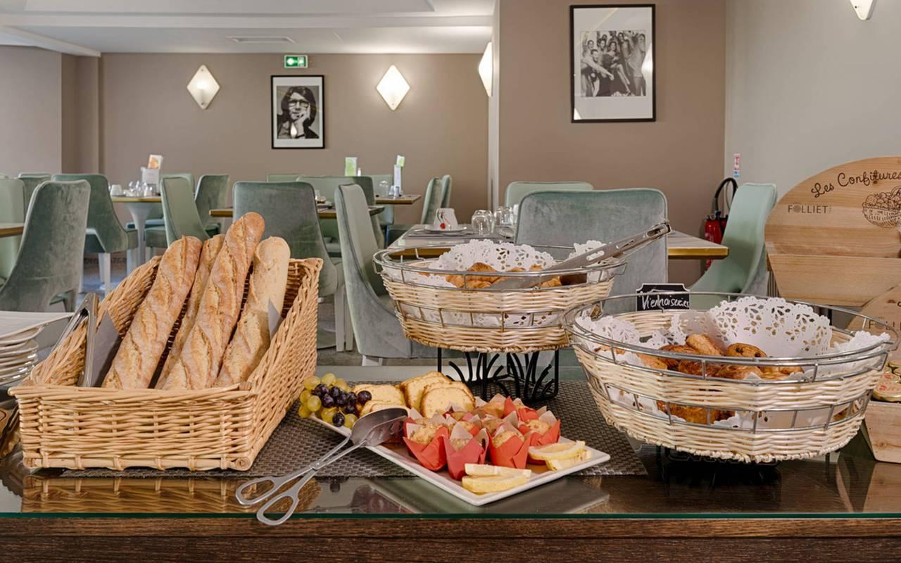 buffet du petit-déjeuner, boutique hotel cannes, Juliana Hotel Cannes