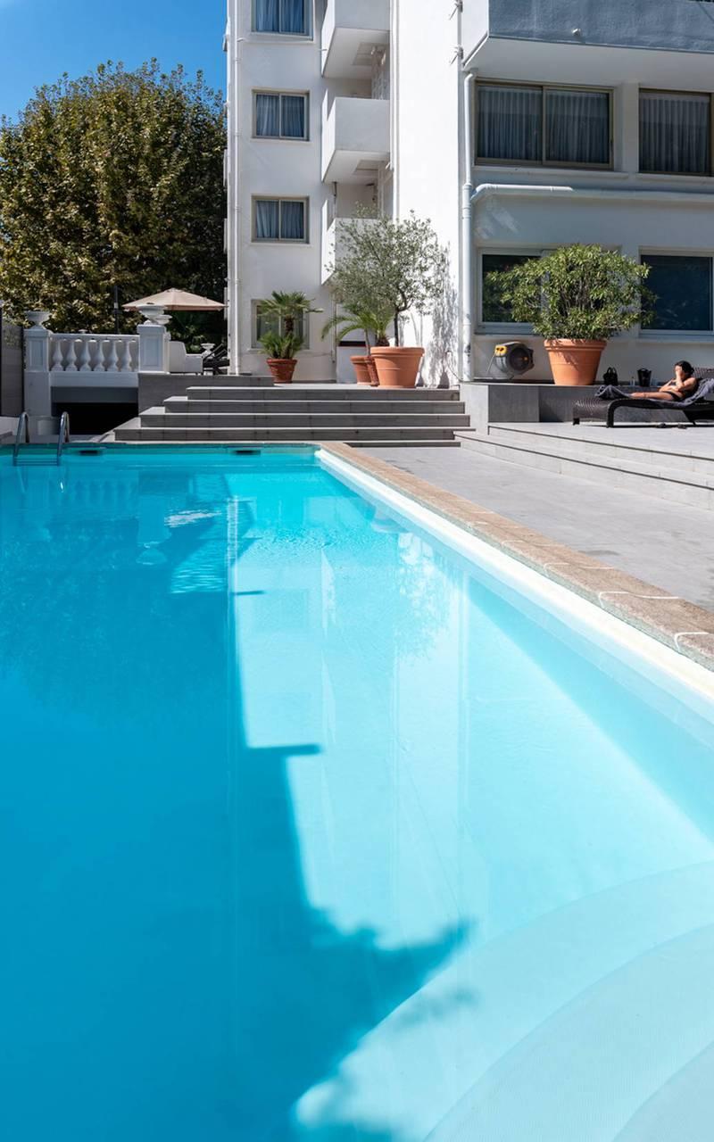 Grande piscine, boutique hotel cannes, Juliana Hotel Cannes